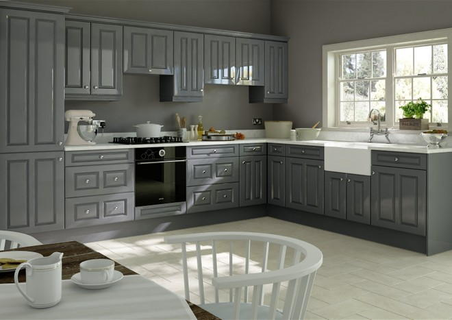 Amberley High Gloss Anthracite Kitchen Doors Made To