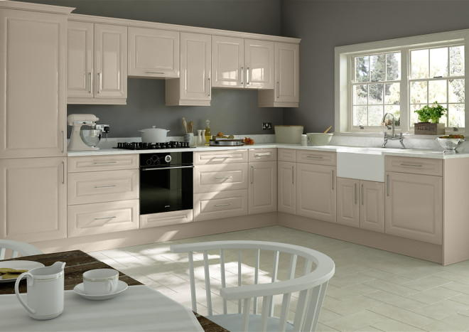 Amberley High Gloss Cashmere Kitchen Doors