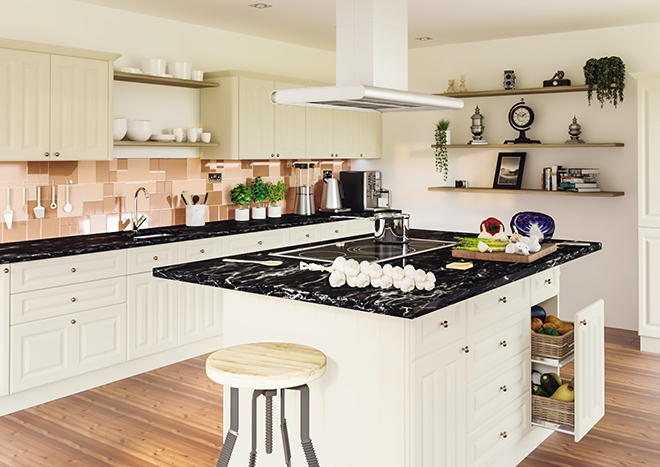 Amberley TrueMatt Alabaster Kitchen Doors