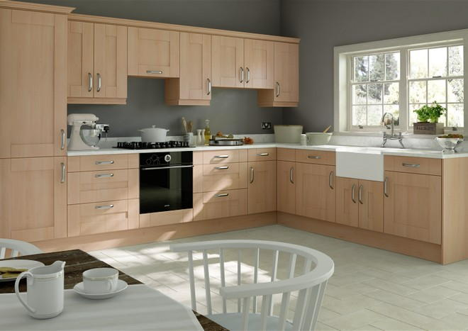 Arlington Beech Kitchen Doors