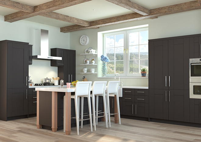 Arlington Graphite Kitchen Doors