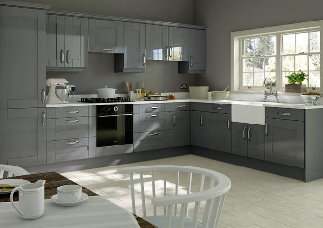 Arlington High Gloss Anthracite Kitchen Doors Made To Measure From - Anthracite grey kitchen