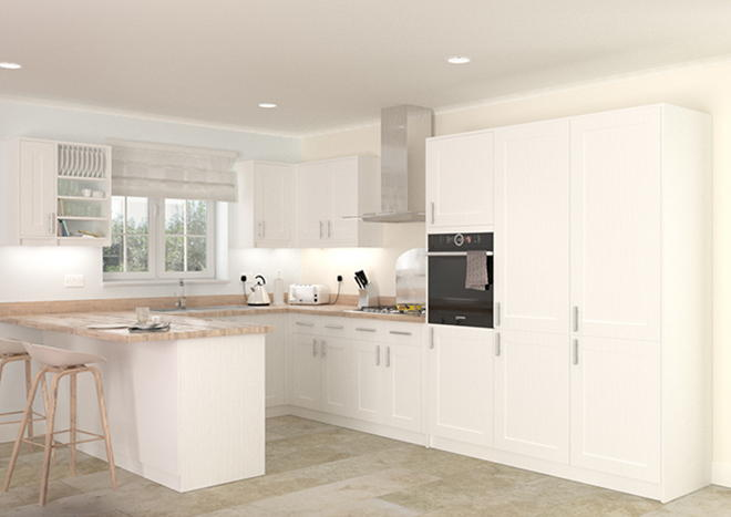 Arlington Legno Linen Kitchen Doors