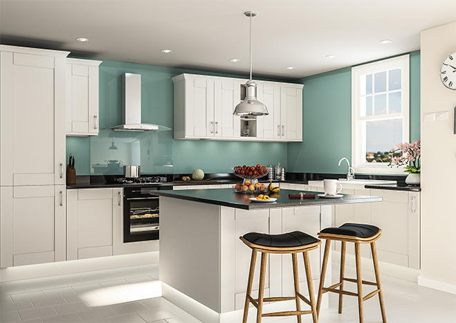Arlington Light Grey Kitchen Doors Made To Measure From - Light grey kitchen doors