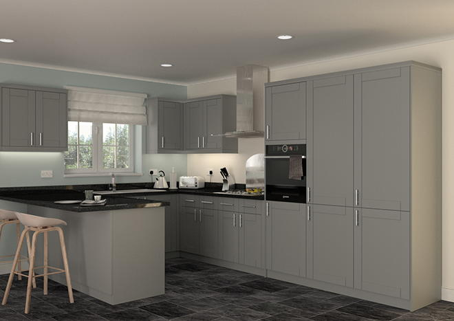 Arlington Pebble Grey Kitchen Doors