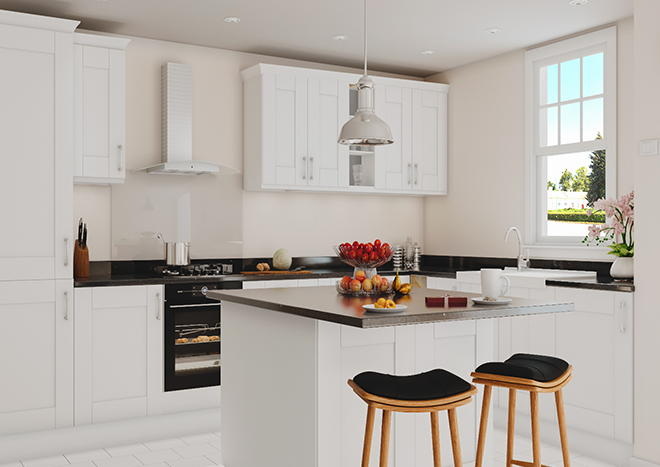 Arlington Porcelain White Kitchen Doors