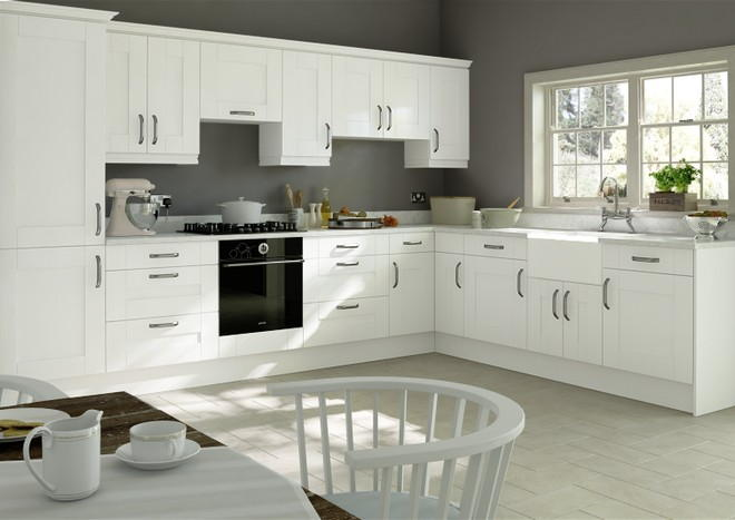 Arlington Silk White Kitchen Doors