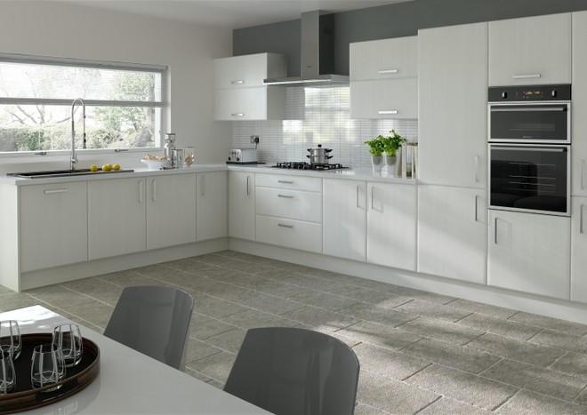 Brighton Avola White Kitchen Doors