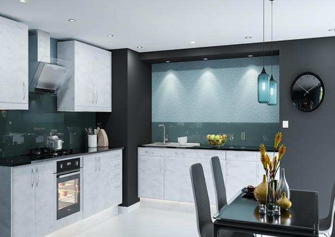 Brighton Brushed Steel Kitchen Doors