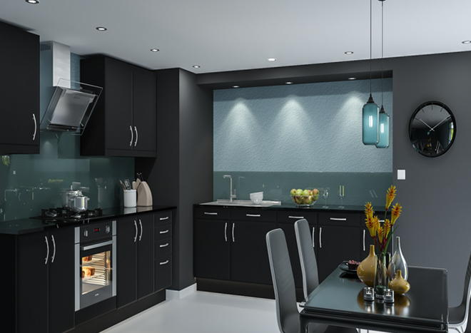 Brighton Legno Jet Kitchen Doors