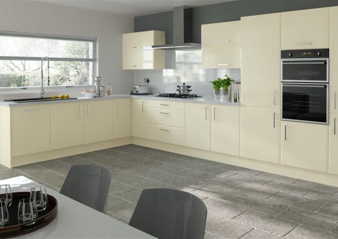 Brighton Legno Magnolia Kitchen Doors