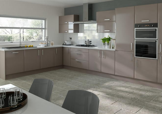 Brighton Legno Stone Grey Kitchen Doors