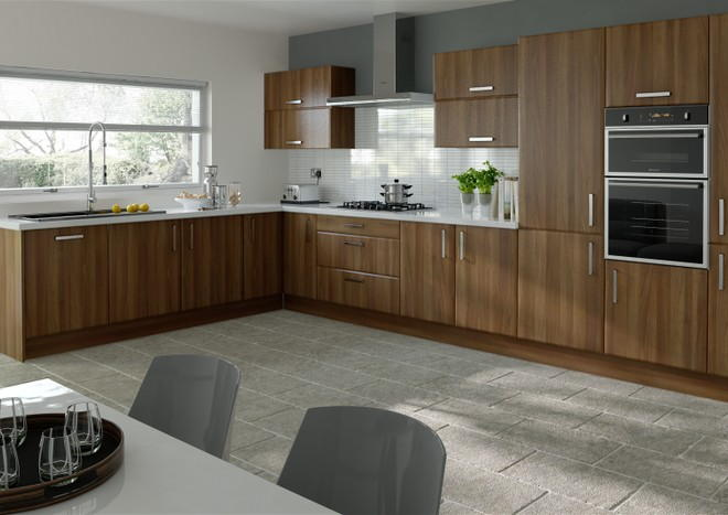 Brighton Medium Walnut Kitchen Doors