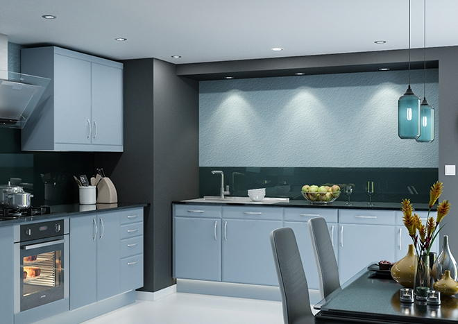 Brighton TrueMatt Denim Kitchen Doors