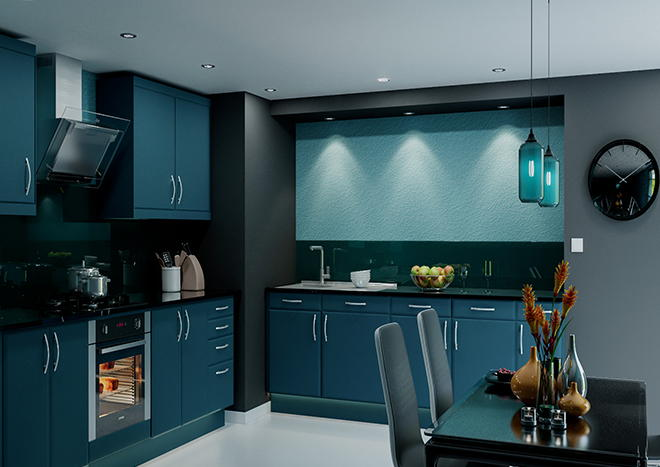 Brighton TrueMatt Marine Blue Kitchen Doors