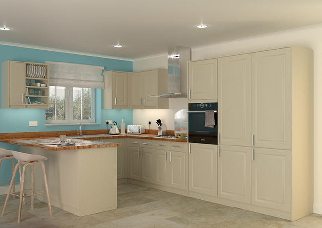 Buxted Cream Ash Kitchen Doors