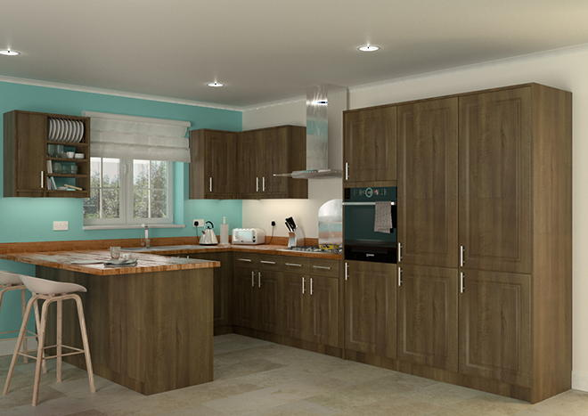 Buxted Dark Walnut Kitchen Doors