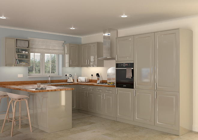 Buxted High Gloss Graphite Kitchen Doors From Made To Measure