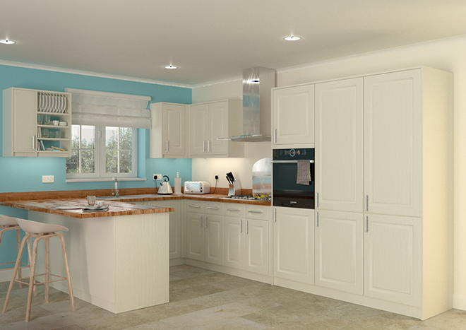Buxted Legno Ivory Kitchen Doors