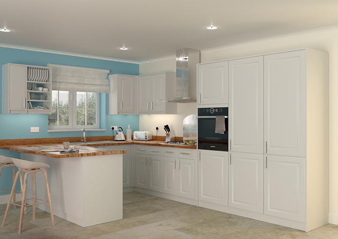 Buxted Silk White Kitchen Doors