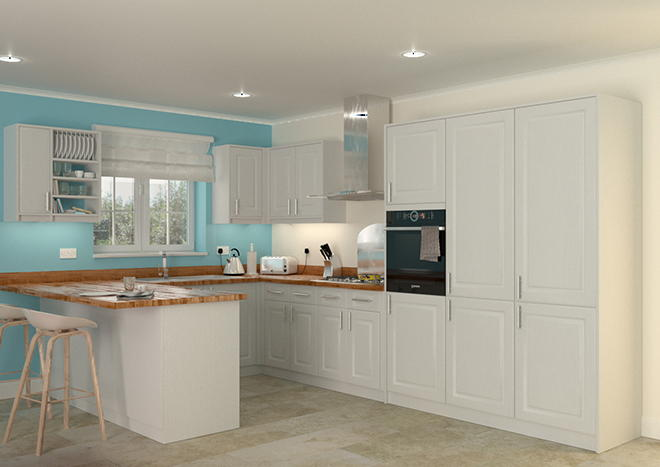Buxted Super White Ash Kitchen Doors