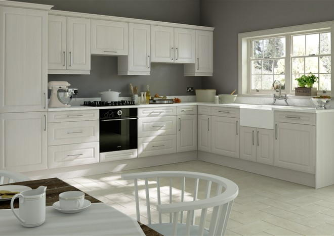 Chichester Avola White Kitchen Doors
