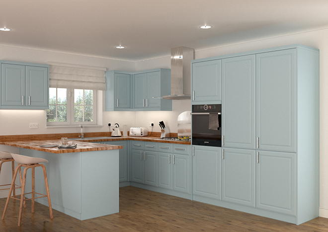 Chichester Denim Blue Kitchen Doors