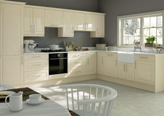 Chichester High Gloss Cream Kitchen Doors