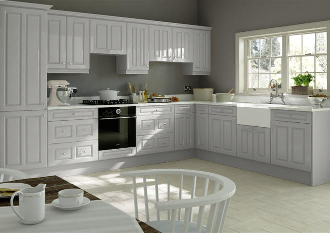 Chichester High Gloss Light Grey Kitchen Doors