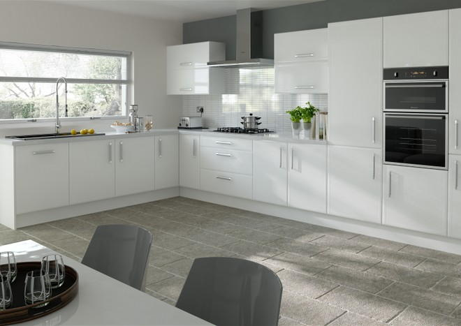 Durrington Silk White Kitchen Doors