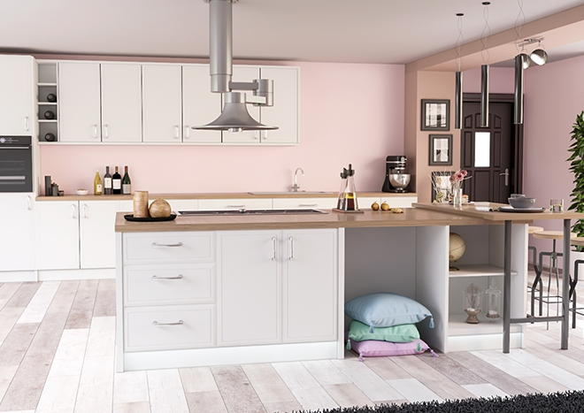 Durrington TrueMatt White Grey Kitchen Doors