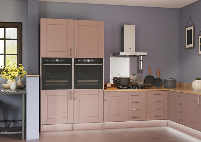 Fairlight TrueMatt Dusky Pink Kitchen Doors