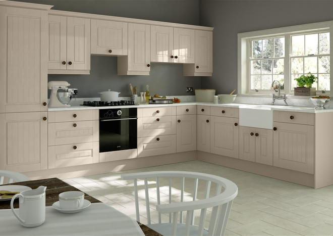 Fontwell High Gloss Cashmere Kitchen Doors