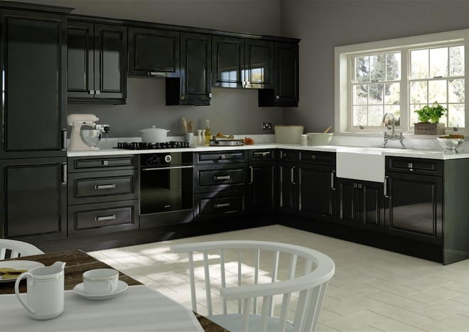 fontwell high gloss metallic black kitchen doors from made to