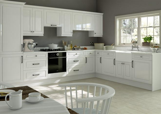 Fontwell High Gloss White Kitchen Doors Made To Measure