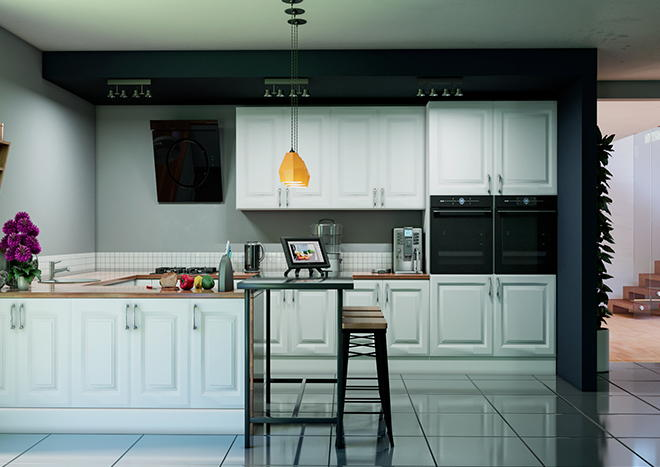Fontwell Porcelain White Kitchen Doors