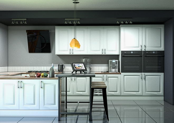 Fontwell TrueMatt Light Grey Kitchen Doors