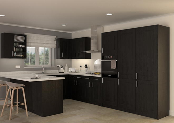 Goodwood Legno Jet Kitchen Doors