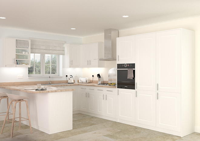 Goodwood Legno Linen Kitchen Doors