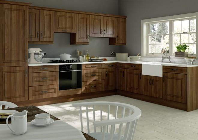 Goodwood Medium Walnut Kitchen Doors