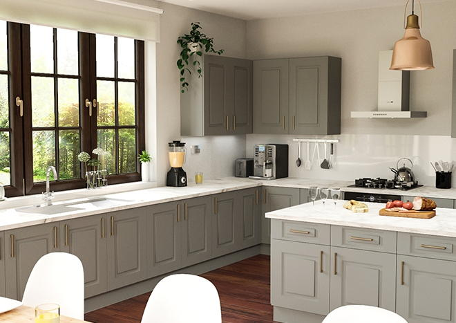 Goodwood TrueMatt Dust Grey Kitchen Doors