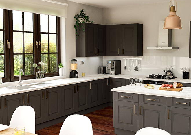 Goodwood TrueMatt Graphite Kitchen Doors