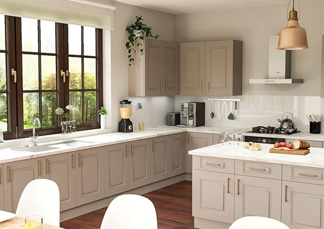 Goodwood TrueMatt Stone Grey Kitchen Doors