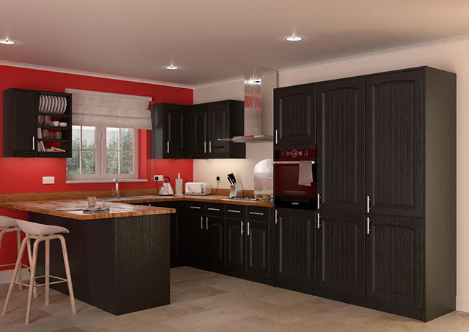 Hartfield Legno Jet Kitchen Doors