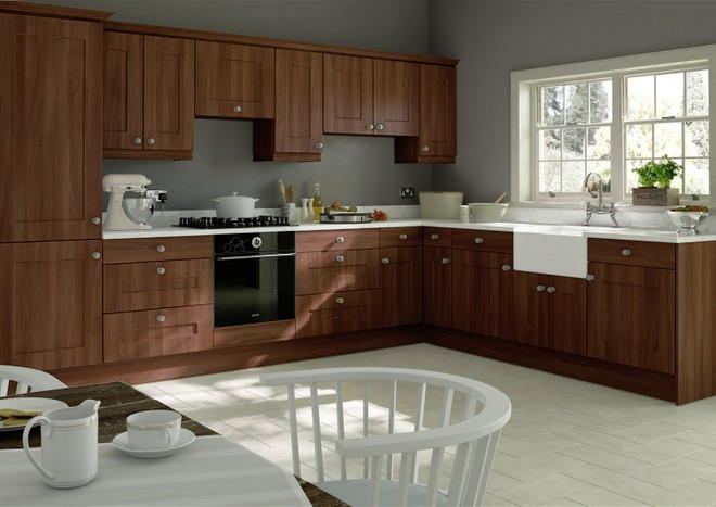 Kingston Dark Walnut Kitchen Doors