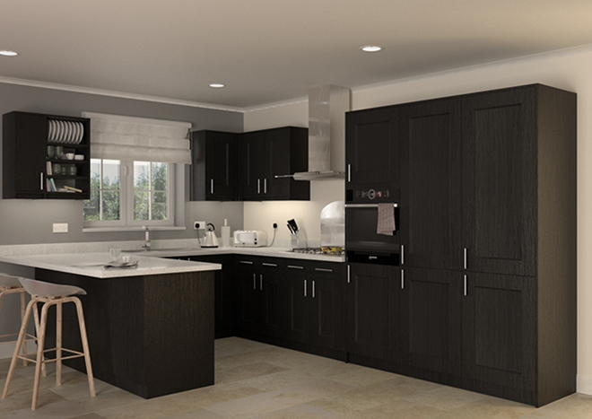Kingston Legno Jet Kitchen Doors
