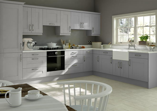 Kingston Light Grey Kitchen Doors Made To Measure From - Light grey kitchen doors