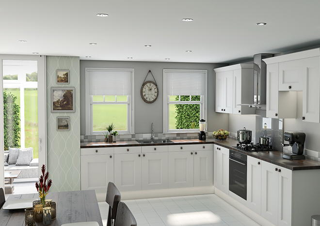Kingston Porcelain White Kitchen Doors
