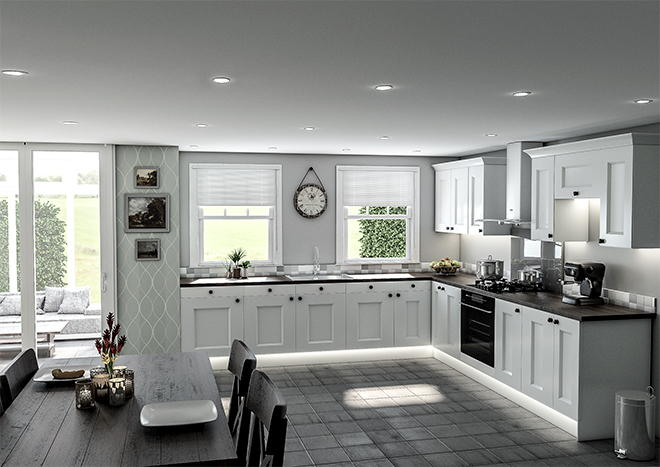 Kingston Silk White Kitchen Doors