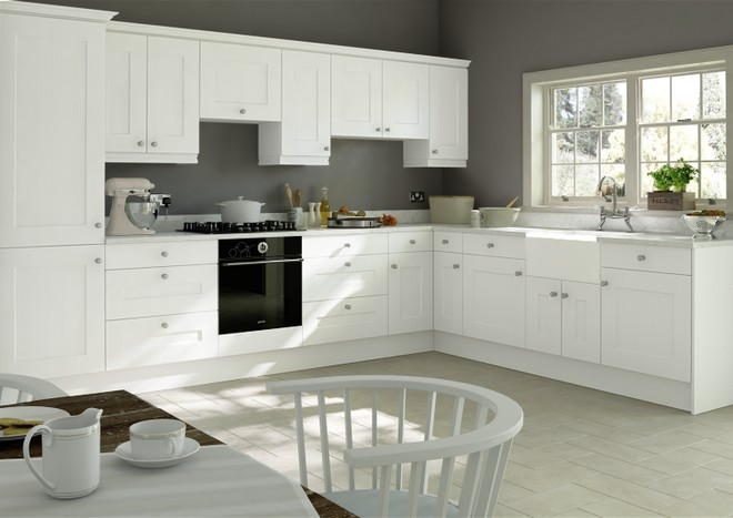 Kingston Super White Ash Kitchen Doors